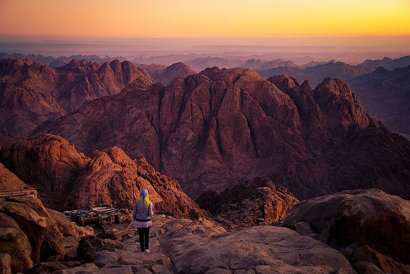 východ slunce na hoře Sinaj - foto: Mohammed Moussa