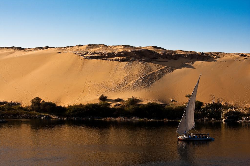 Feluka na Nilu u Asuánu - foto: risastla