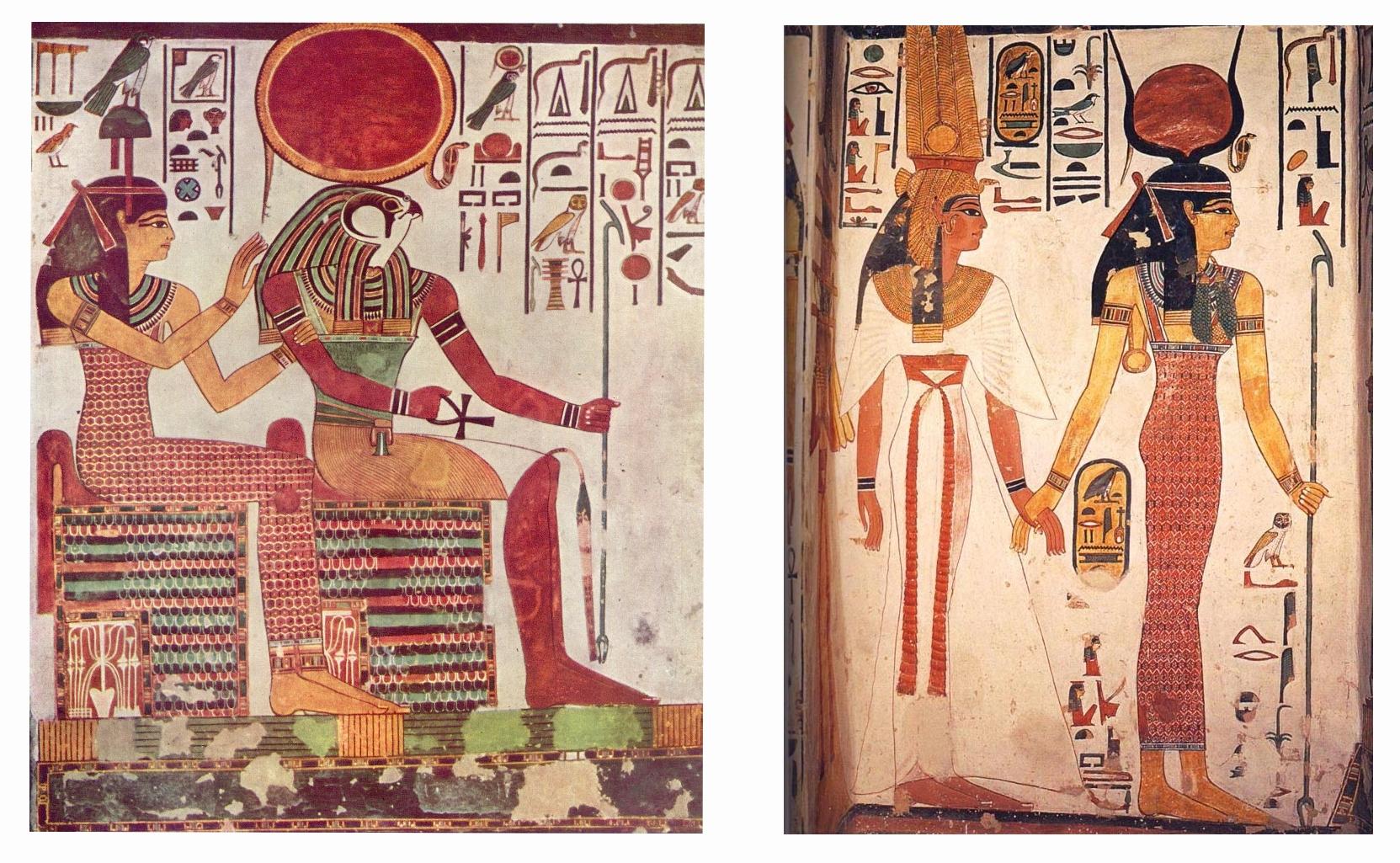 Hrobka královny Nefertari, reliéfy - foto: Lucas