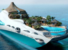 Tropical Island Paradise Themed Superyacht By Yacht Island Design
