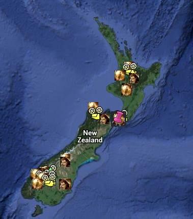 filmová místa na Novém Zélandu - Hobbit