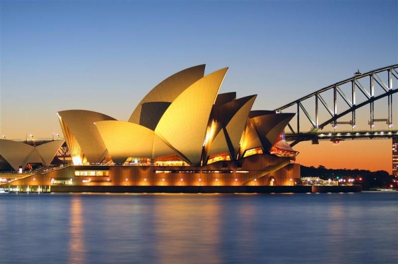 Harbour Bridge a slavná budova Opery